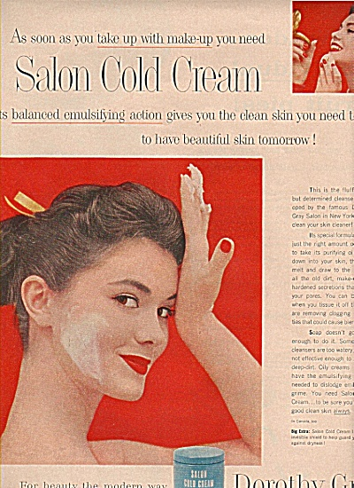 Dorothy Gray salon cold cream ad 1957 (Image1)