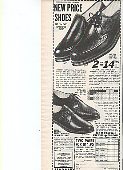 Haband men's shoes. ad   1957 (Image1)