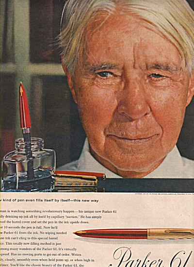 Parker 61 capillary pen ad 1957 (Image1)