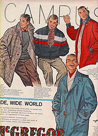 McGregor sportswear for men ad 1957 (Image1)