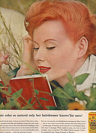 Miss Clairol hair color bth ad 1957 (Image1)