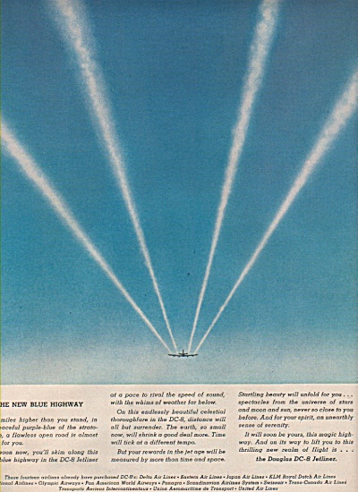 Douglas DC-8 jetliner ad 1957 (Image1)