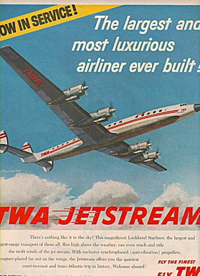 Twa Airlines Ad 1957