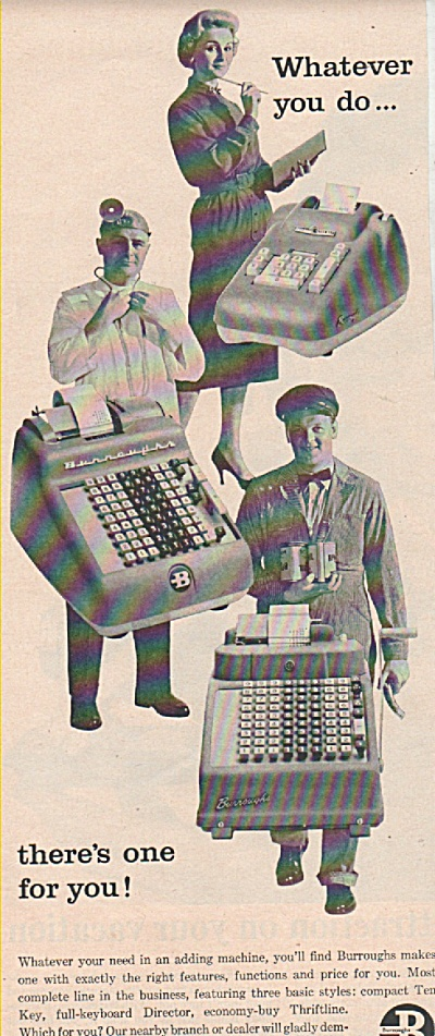 Burroughs adding machines ad 1957 (Image1)