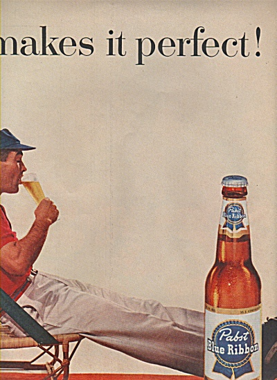 1957 Pabst Blue Ribbon Beer Print AD SUZY PARKER (Image1)