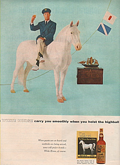 White Horse blended whisky ad 1957 (Image1)
