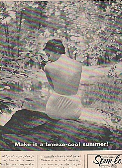 1947 Spun-lo Rayon Panty Photo Print AD Lady in Panties (Image1)