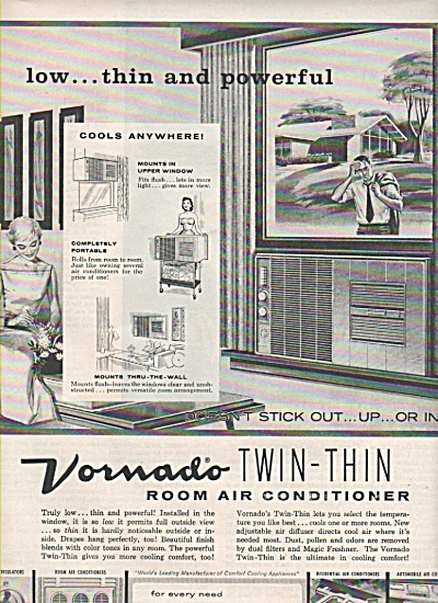 Vornado Room Air Conditioner Ad 1957