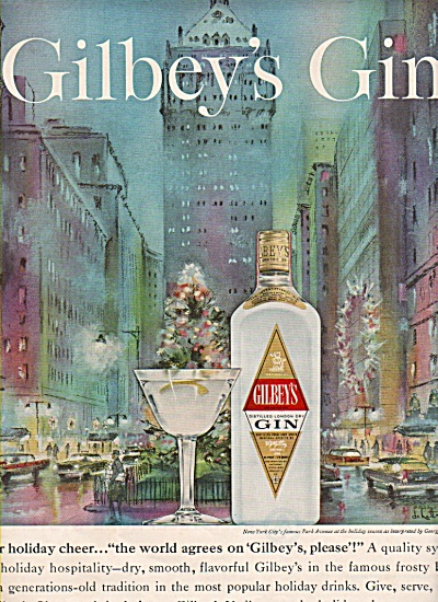 Gilbey's Gin Ad 1962