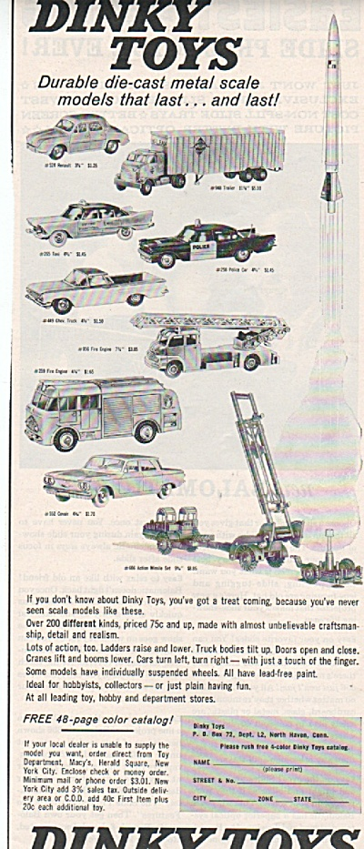 Dinky Toys Ad 1972