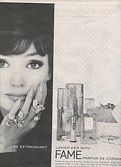 Fame parfum de Corday ad 1962 (Image1)