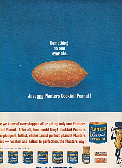 Planters Cocktail Peanuts Ad 1962