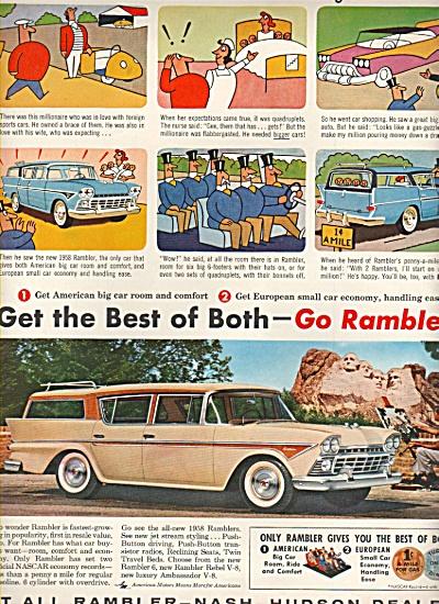 RAmbler - Nash - Hudson dealers ad 1958 (Image1)