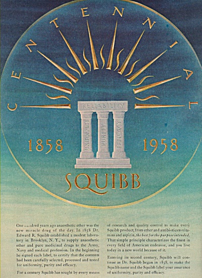 Squibb medical supplies ad 1958 (Image1)