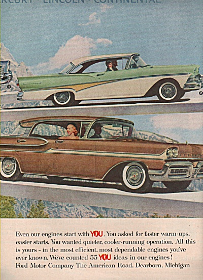 Ford family of fine cars ad 1958 (Image1)