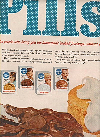 Pillsbury frosting mixes ad 1958 (Image1)
