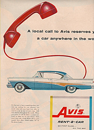 Avis Rent a car ad 1958 (Image1)
