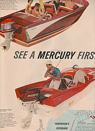 Mercuury Boat Motors Ad 1958