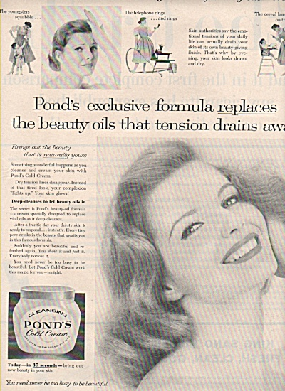 Ponds cold cream ad 1958 (Image1)