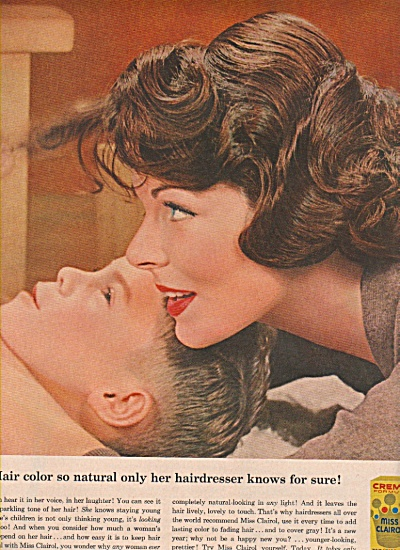 Miss Clairol hair coloring ad 1958 (Image1)
