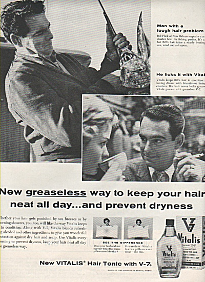 Vitalis Hair Tonic Ad 1958