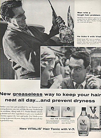 Vitalis hair tonic ad 1958 (Image1)