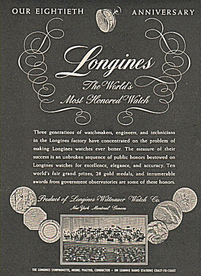Longines Watch Anniversary Ad