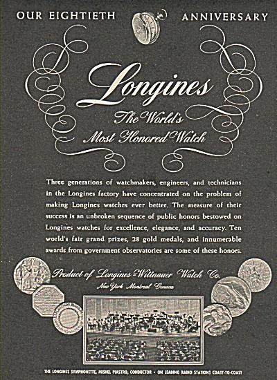 Longines watch anniversary ad (Image1)