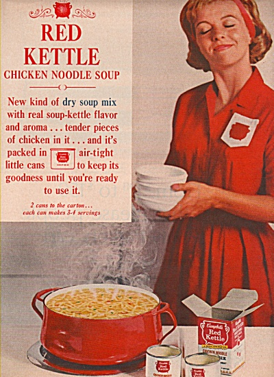 Red kettle chickennoodle soup ad 1962 (Image1)