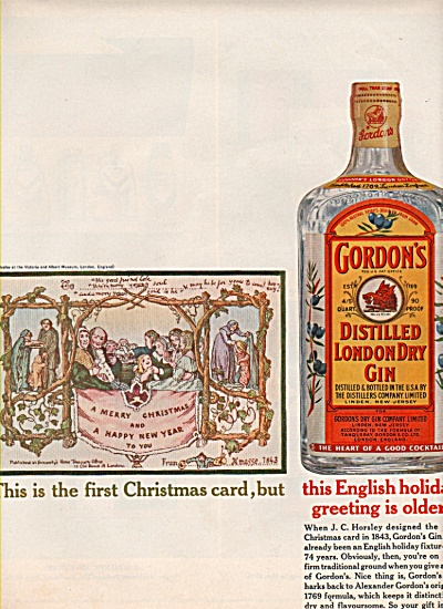 Gordon's distilled london dry gin ad 1962 (Image1)
