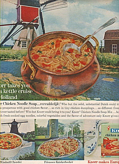 Knorr chicken noodle soup ad 1962 (Image1)
