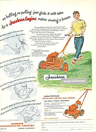 Jacobsen tractors ad 1951 (Image1)