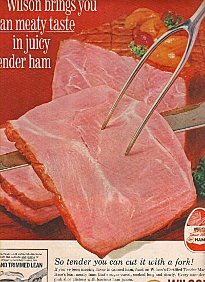 Wilson's certified ham ad 1962 (Image1)