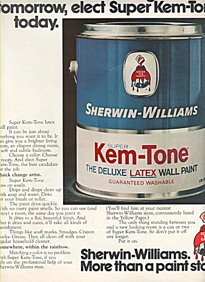 Sherwin Williams Wall Paint Ad 1972