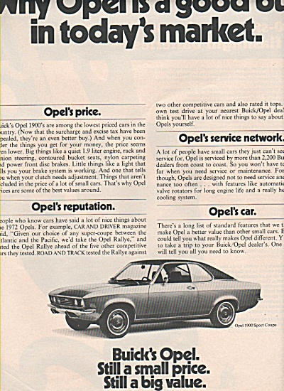 Sherwin Williams Wall Paint Ad 1972 Opel