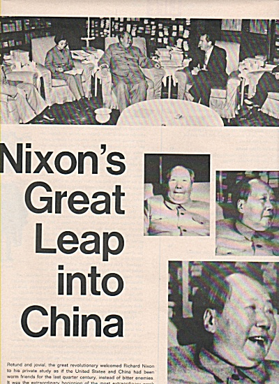 Pres.Nixon's Great leap into CHINA  1972 (Image1)