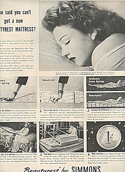 Simmons beautyrest mattress - ANNE BAXTER (Image1)
