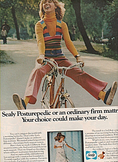 Sealy Posturepedic mattress ad 1972 (Image1)