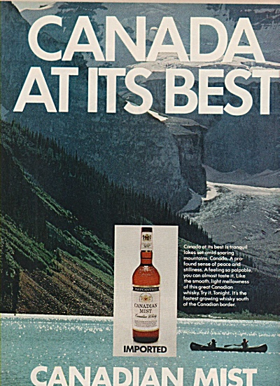 Canadian Mist Ad 1972