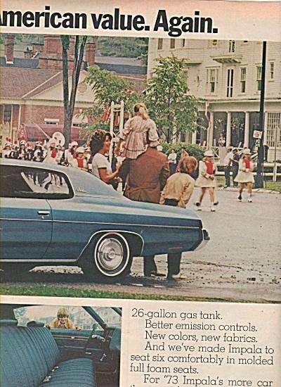 Chevrolet  Impala ad 1972 (Image1)