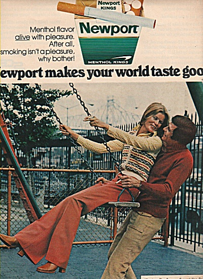 Newport kings cigarettes ad 1972 (Image1)
