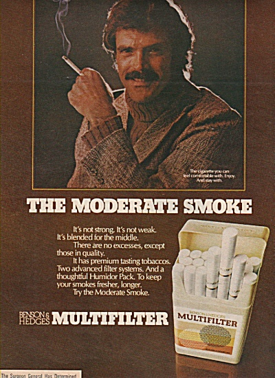 Multifilter cigarettes ad  1972 (Image1)