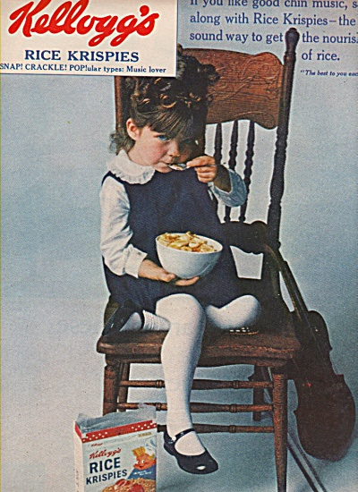 Kellogg's Rice Krispies Ad 1965 Little Rocker Girl