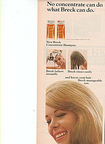 Breck hair shampoo ad 1965 (Image1)