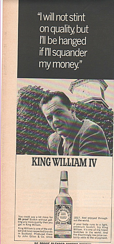 King William IV scotch ad 1966 (Image1)