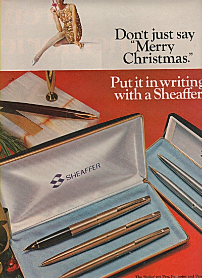 Sheaffer pen and pencil sets ad 1966 (Image1)