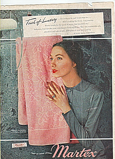 Martex Towels Ad 1948