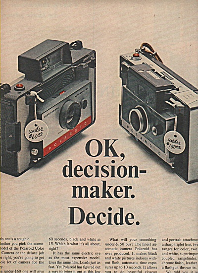 Polaroid Color Pack Camera Ad 1966