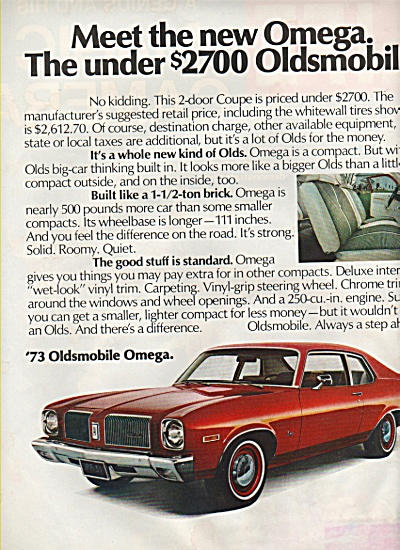 Oldsmobile Omega for 1973 ad (Image1)