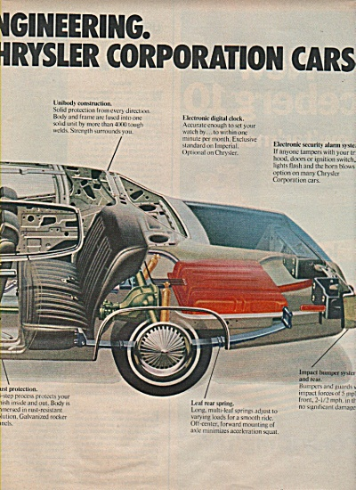 Chrysler Corporation cars ad 1972 (Image1)